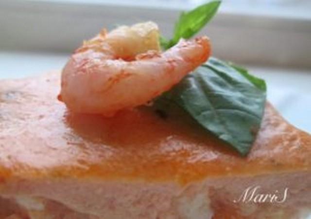 Запеканка-суфле из рыбы с креветками