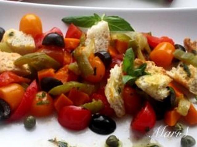 салат из овощей запеченных под грилем