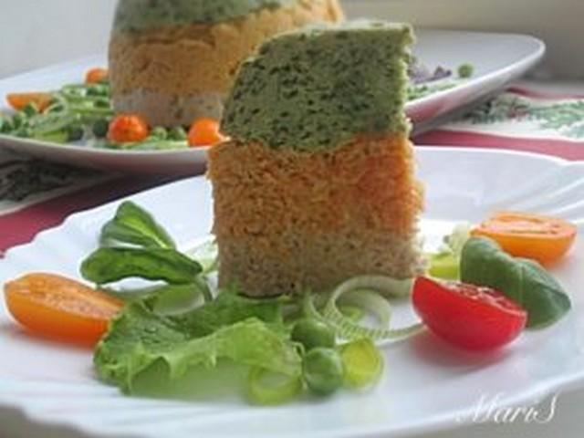 Мясная запеканка с морковью и шпинатом