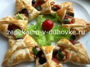 рецепт закусочный пирог с беконом и сыром моцарелла
