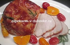 грудка индейки запеченная в томатной глазури