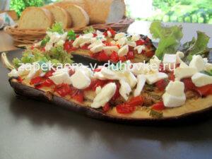 Запеченные баклажаны с творожным сыром