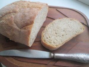 хлеб на кефире пшенично-ржаной