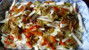 овощная запеканка с грибами и корнем сельдерея