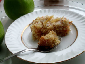 насыпной яяблочный пирог