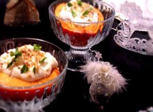 Десерт из хурмы запеченной с маскарпоне