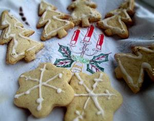 Рождественское печенье с имбирными цукатами
