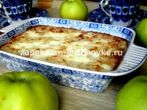 Запеканка яблочно-рисовая