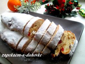 Рождественский штоллен творожный с марципаном