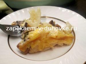 гратен из цветной капусты с грибами