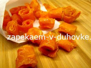 морковные цукаты в лимонном сиропе