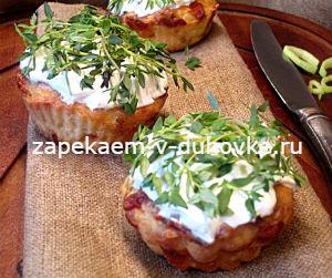 Маффины из кабачков с сыром
