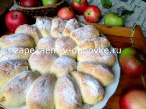 Пирог отрывной яблоками в корице