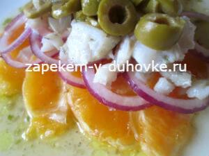Испанский салат Ремохон - из трески