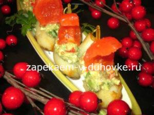 Картофельные лодочки запеченные с соусом гуакамоле