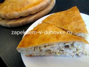 рыбный пирог из творожного теста