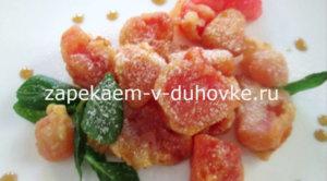 Китайский десерт из арбуза к кляре