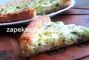 Тарт с цукини козьим сыром и мятой на слоеном тесте