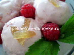 малиновое мороженое с имбирем