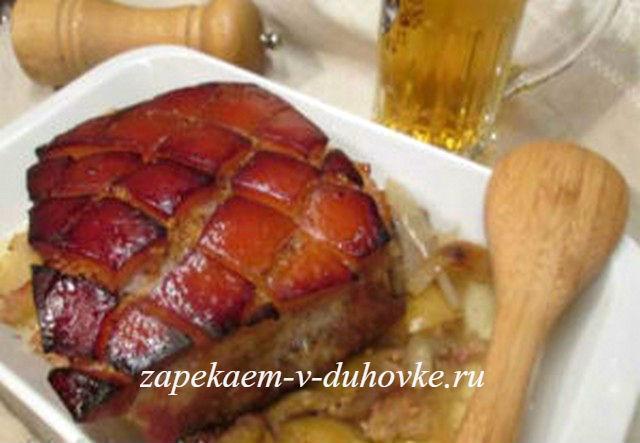 Жаркое запеченное в пиве по-немецки