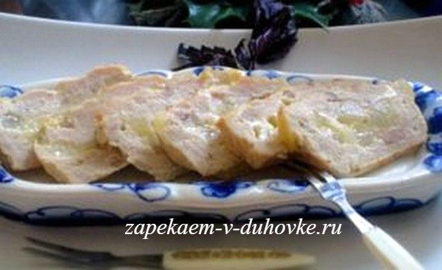 Террин из индейки груш и сыра