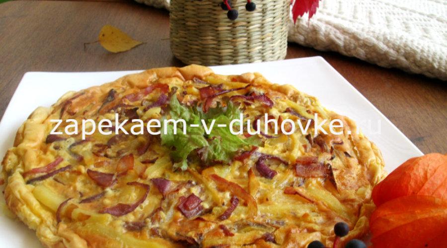 Картофельная запеканка с беконом по-немецки