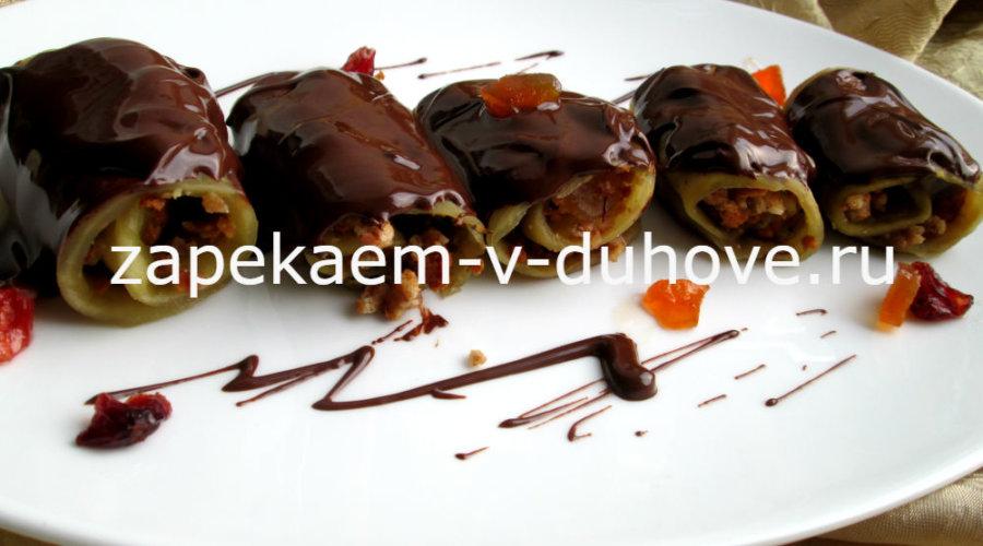 Шоколадные баклажаны с начинкой по-неаполитански