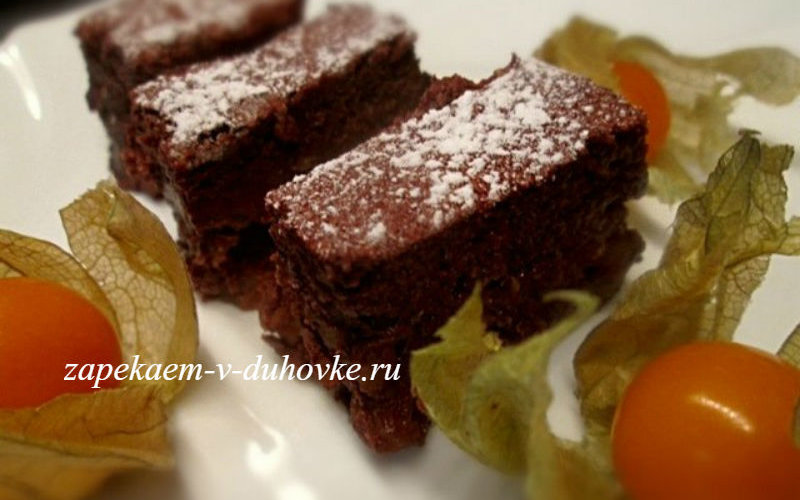 Шоколадно-рисовый десерт-запеканка