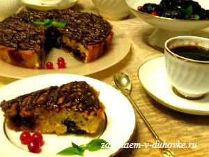 Итальянская шарлотка с черносливом