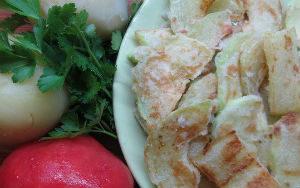 Запеканка из кабачков помидоров и картофеля в духовке
