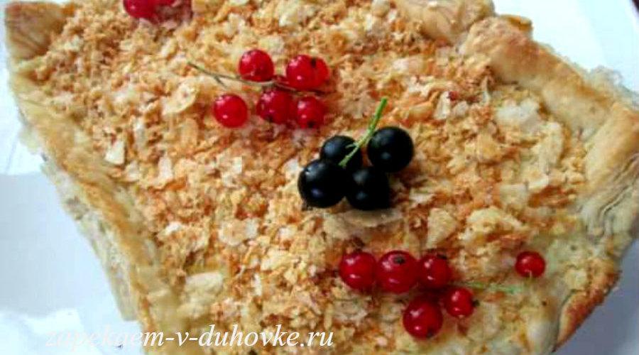 Слоеный маковый пирог со сметанной прослойкой