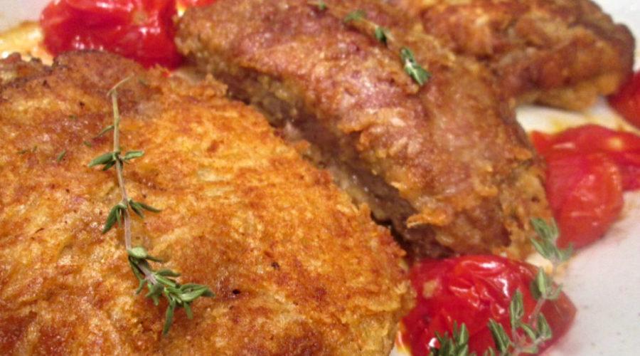 Отбивные запеченные в сырной панировке по-милански
