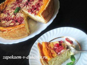 Чизкейк с маскарпоне и ягодной заливкой