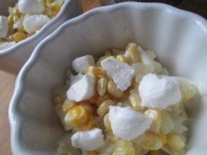 Рецепт запеканка из макарон с сыром и кукурузой в соусе бешамель