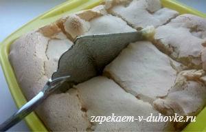 Шарлотка из ябок с карамельной корочкой