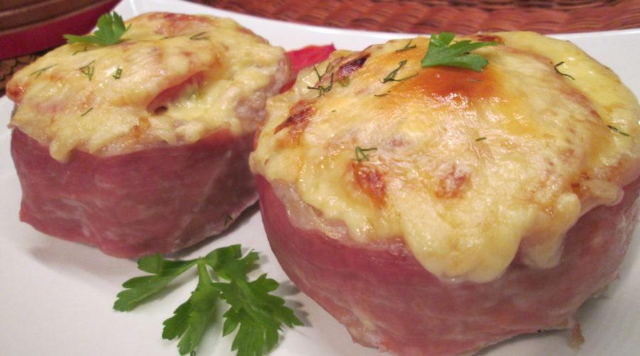 Мини-запеканки мясные с овощной начинкой