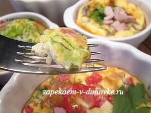 Омлеты с начинками в духовке (3 варианта)