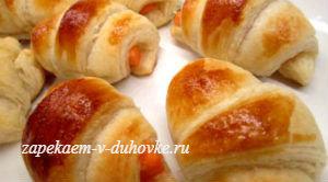 Домашние круассаны с семгой и творожным сыром