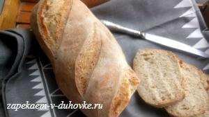 леб пшенично-ржаной на кефире