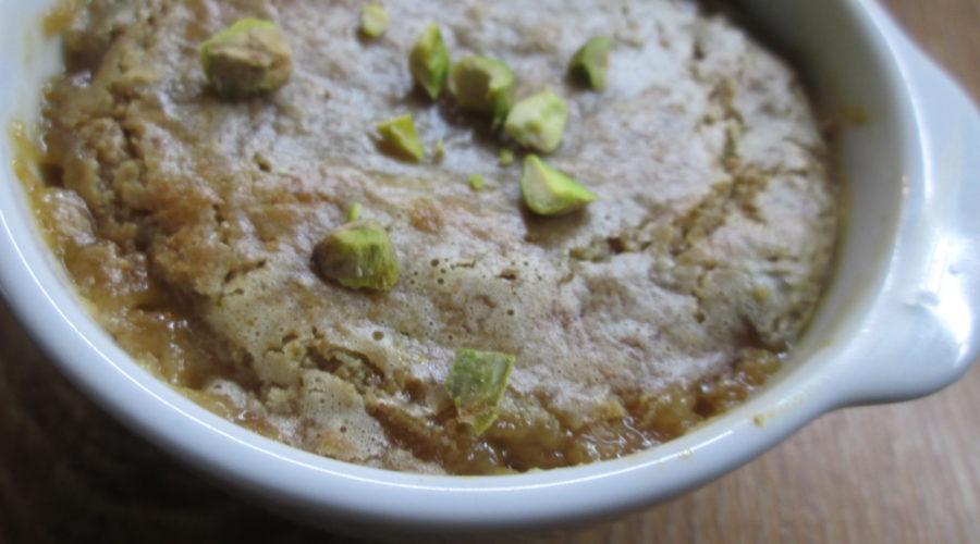 Суфле из яблок запеченных с халвой