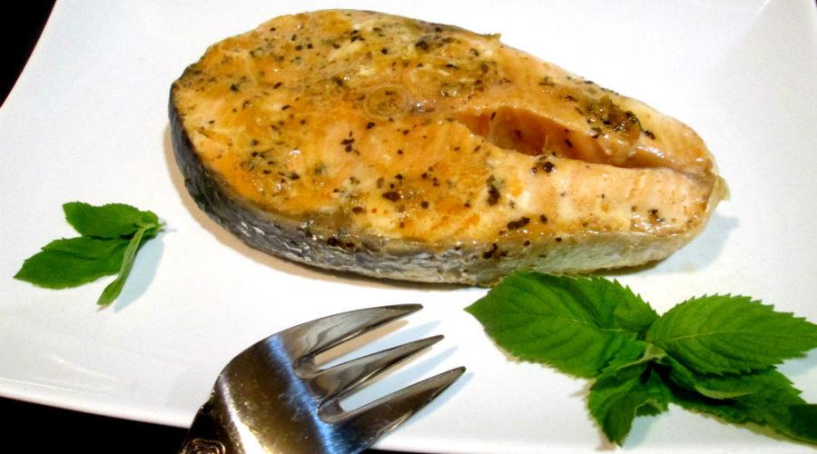 Семга запеченная в имбирно-соевом маринаде