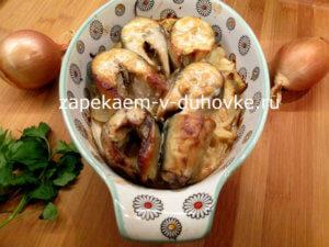 скумбрия запеченная в духовке в горчичном маринаде кусочками