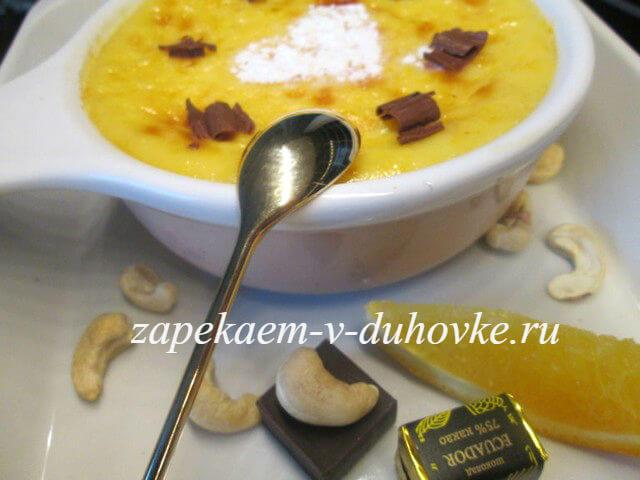 сливочное суфле с апельсином (il latte di piedi))
