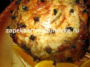 Свиной окорок,запеченный в виски по-австрийски