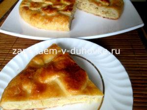 """Пирог из """"сердечек"""" с капустой и грибами"""