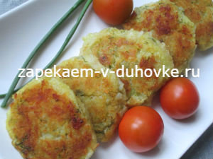 Запеченные постные картофельно-кабачковые лепешки