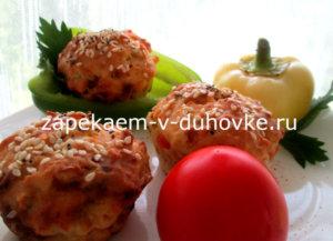 Закусочные огуречные кексы с болгарским перцем