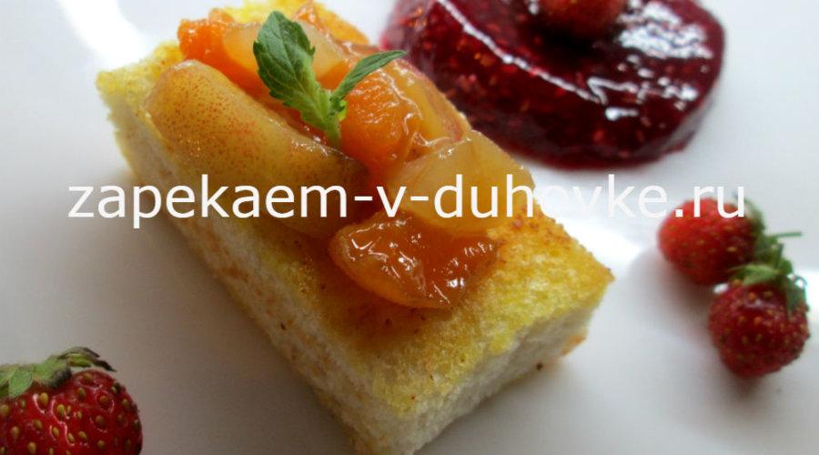 Хлебные корзиночки с ромовыми фруктами