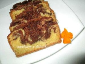 Венецианский мраморный пирог с шоколадом