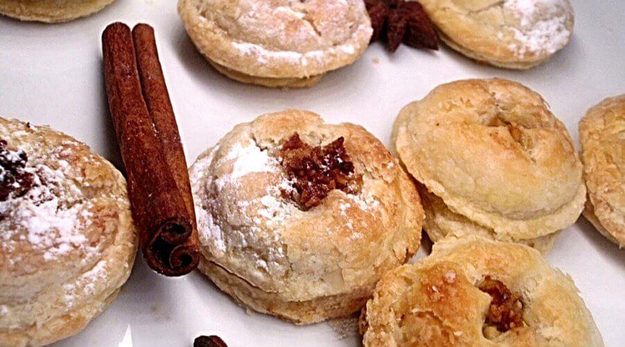 Печенье из слоеного теста по-восточному